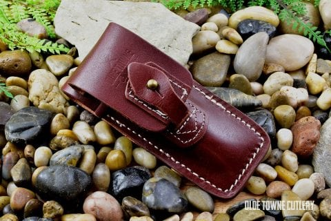 Folding Knife Leather Belt Sheath