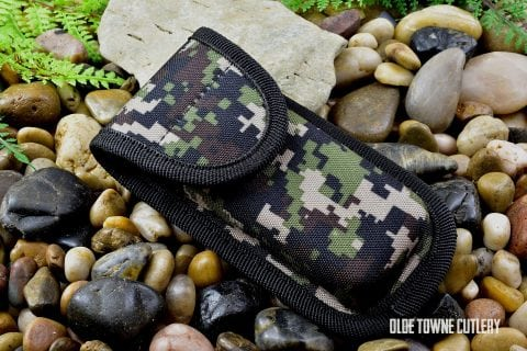 Folding Knife Camo Nylon Belt Sheath