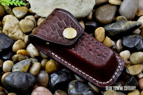 Small Folding Knife Leather Belt Sheath