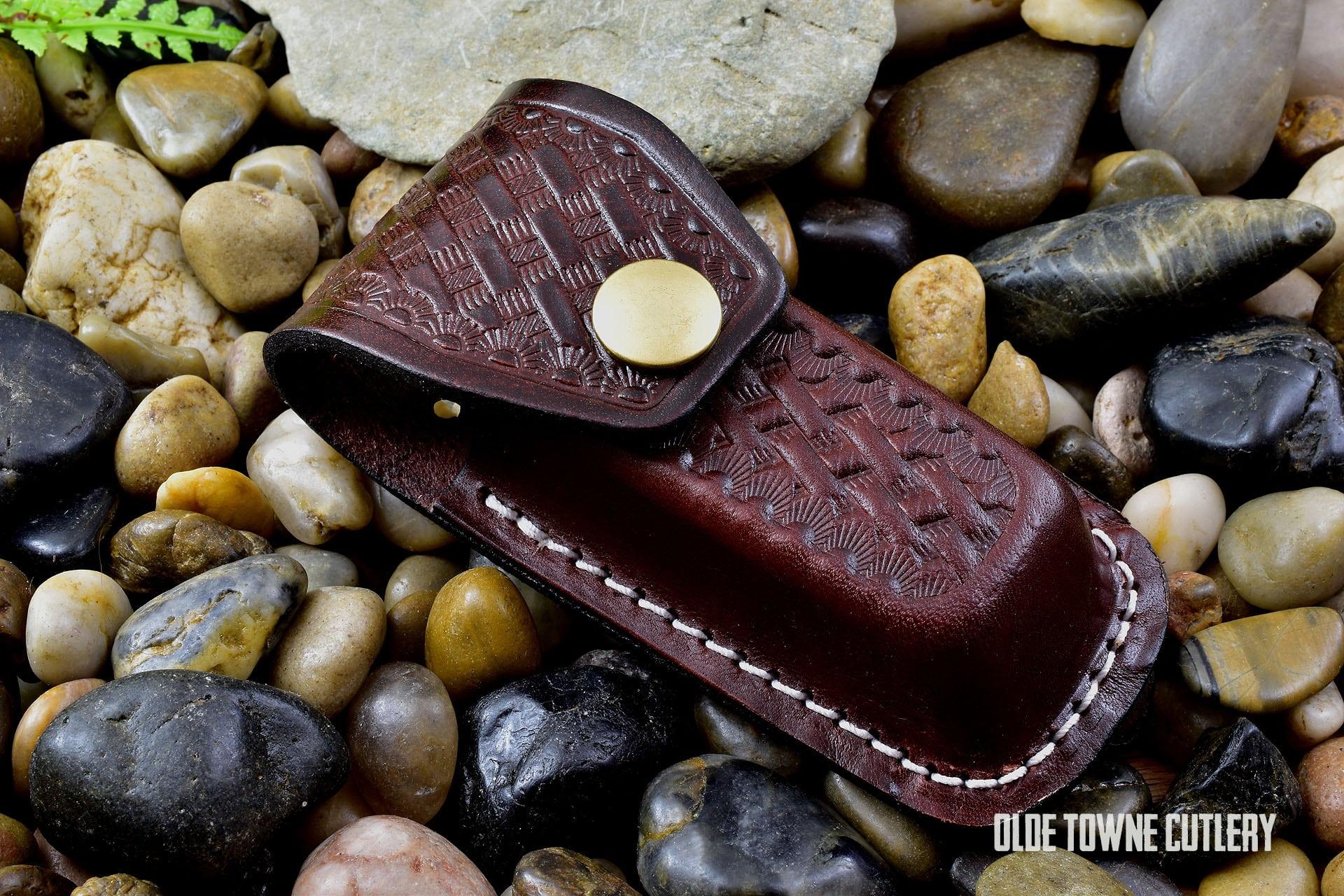 Small Folding Knife Leather Belt Sheath