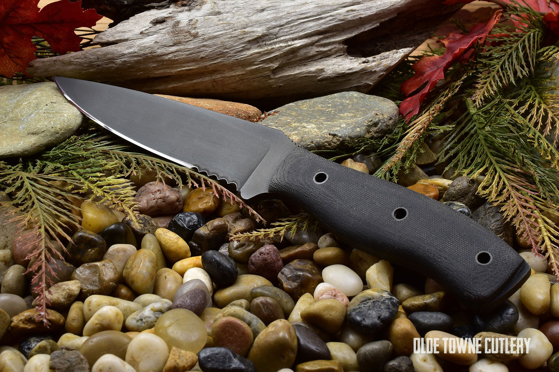 Winkler Knives Recon Black Micarta Serrated