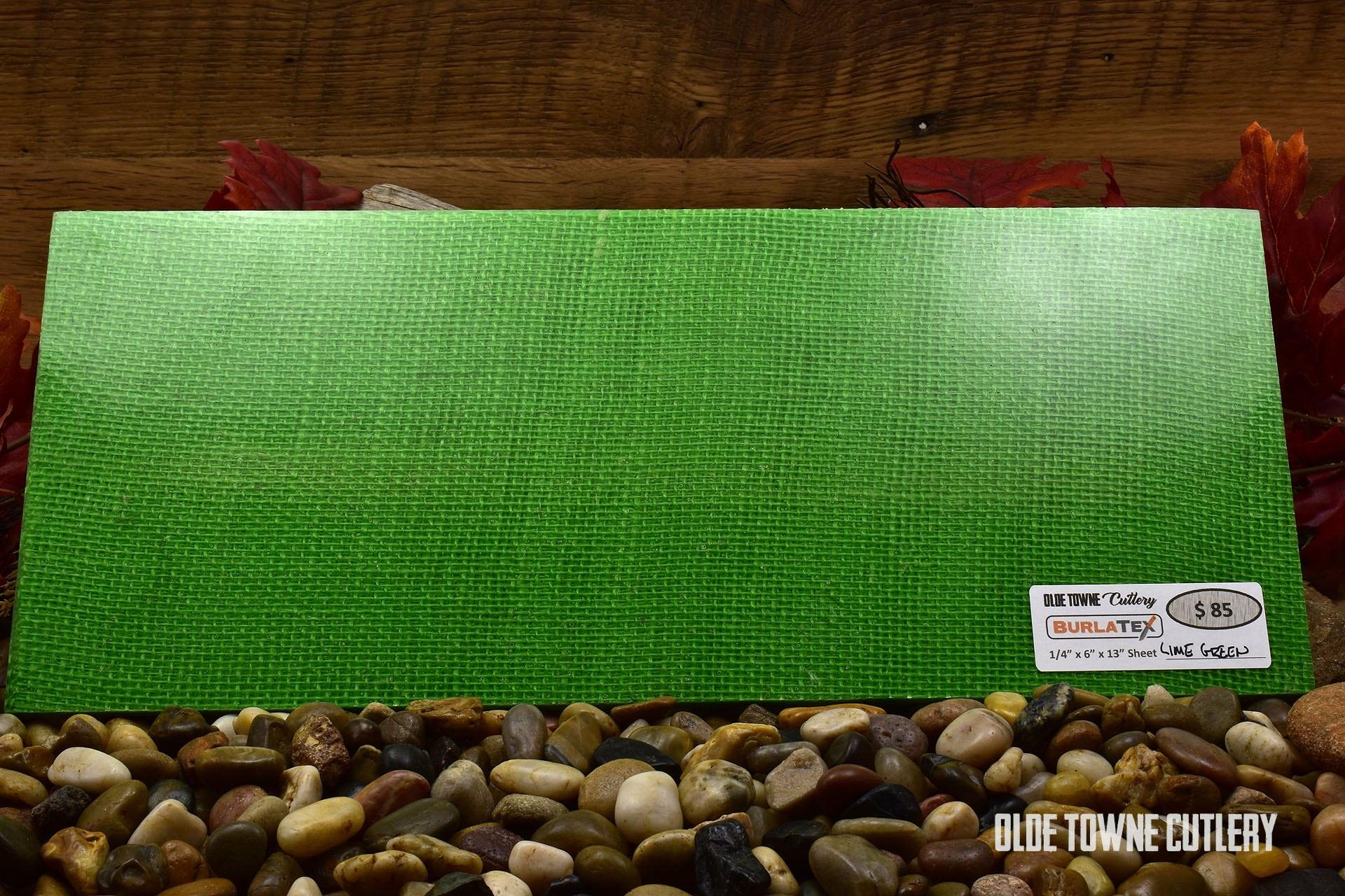 "Burlatex LMGRNSH Lime Green 1/4"" x 6"" x 13"" Sheet"