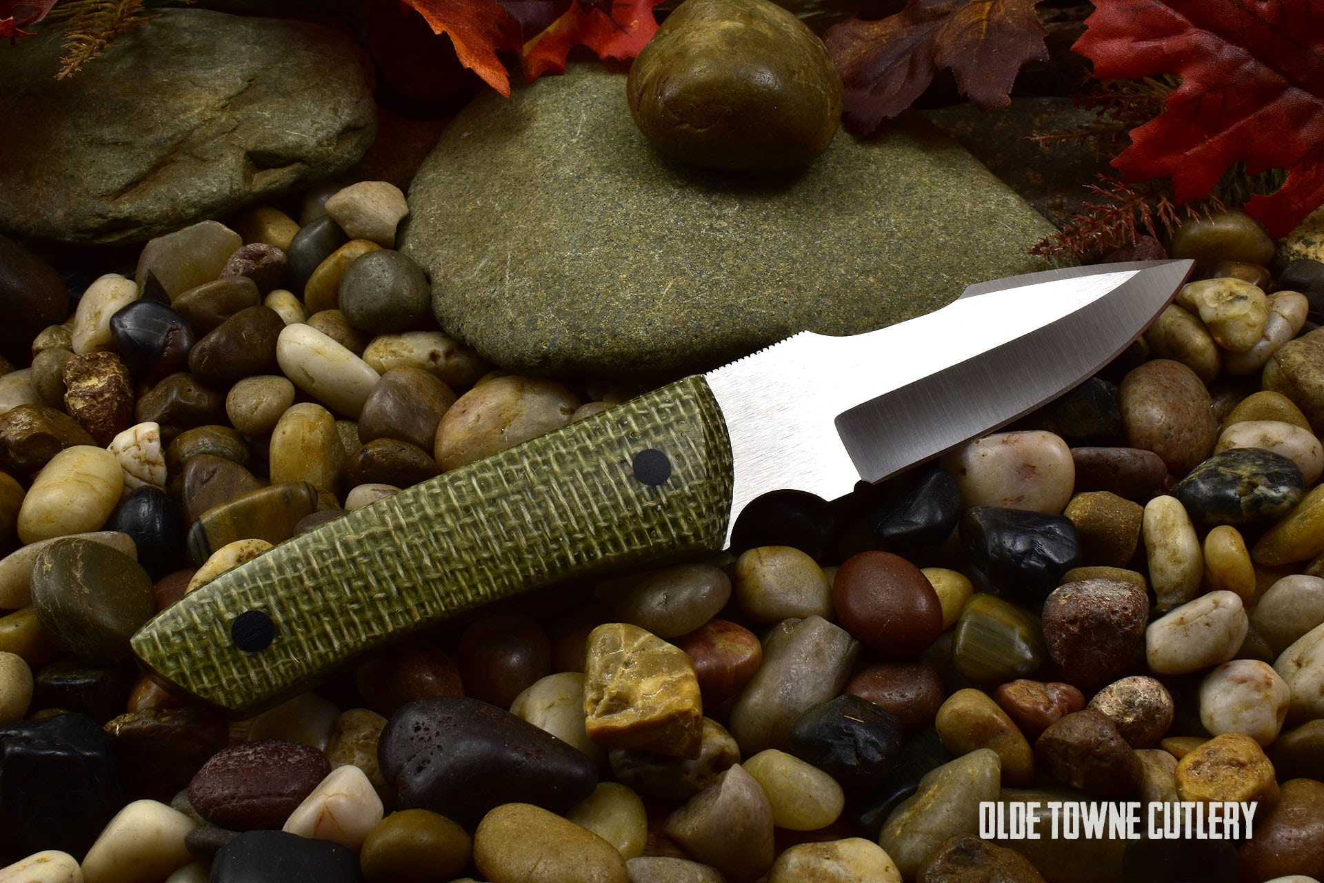 Ohlone Drop Point Harpoon OD Green Burlatex (C)