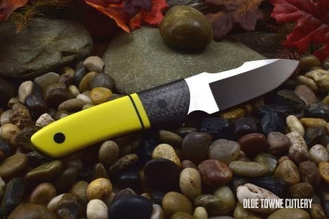 Ohlone Drop Point Harpoon Yellow G10/Carbon Fiber (C)