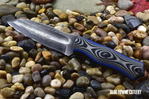 Alfa Knife Patriot Black & Grey G10 handle