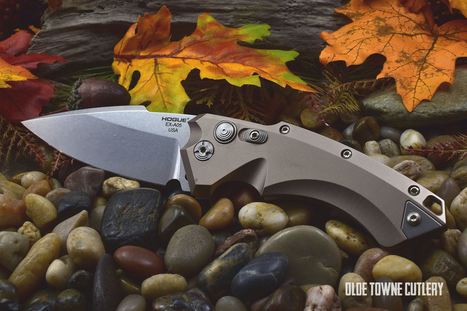 Hogue Knives 34534 EX-A05 Flat Dark Earth