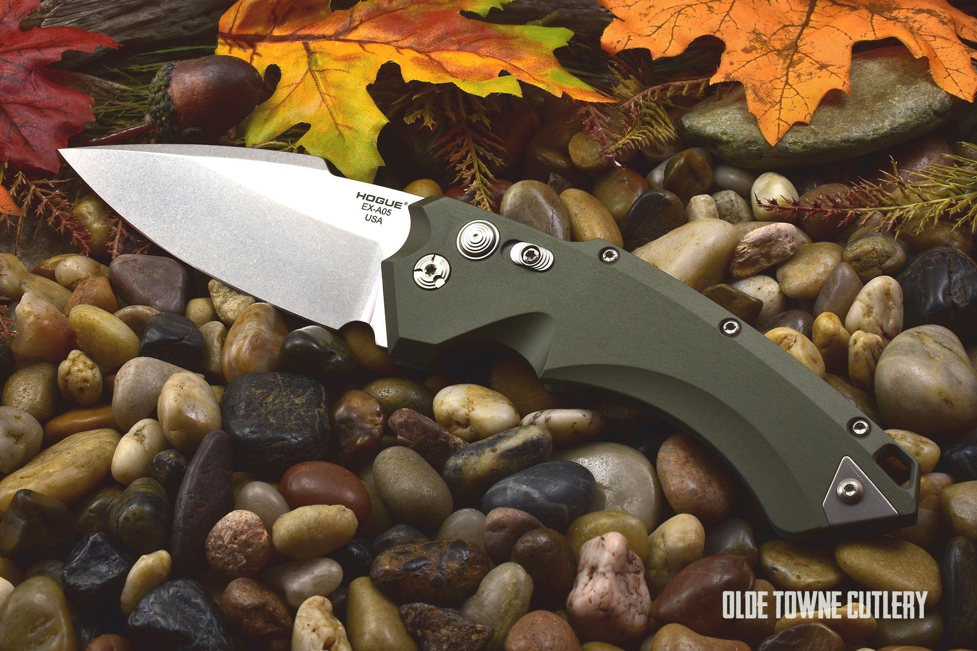 Hogue Knives 34511 EX-A05 OD Green