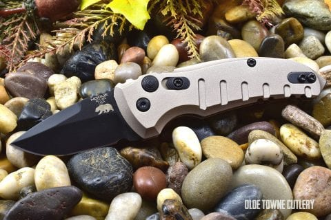 Hogue Knives 24127 A01 Microswitch Matte FDE