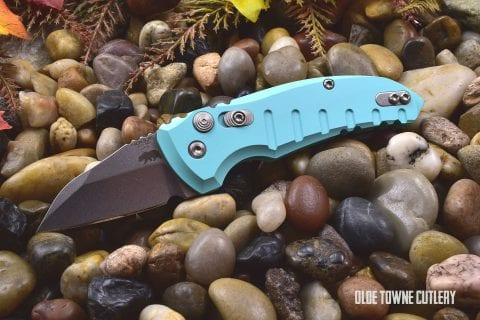 Hogue Knives 24143 A01 Microswitch Aquamarine