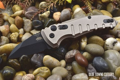 Hogue Knives 24147 A01 Microswitch Matte FDE