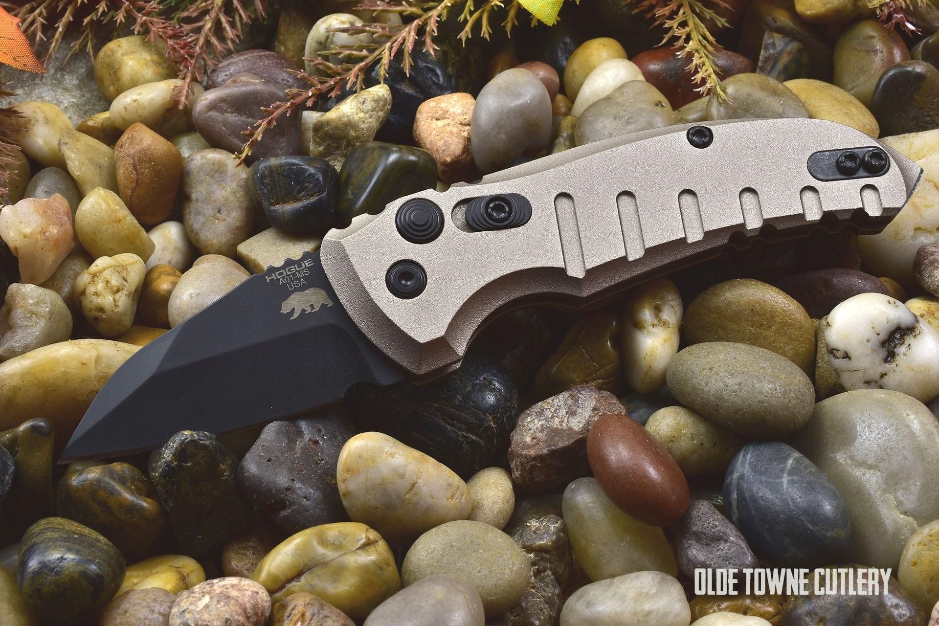 Hogue Knives 24147 A01 Microswitch Matte FDE