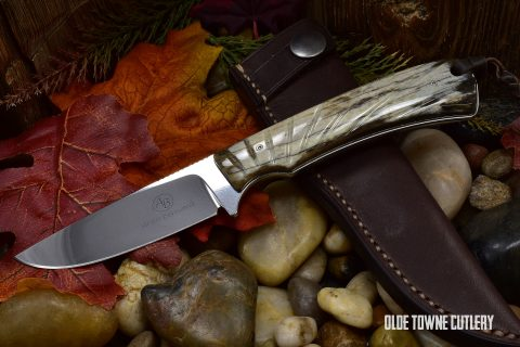 Arno Bernard Knives 7302BV Badger Giraffe Bone