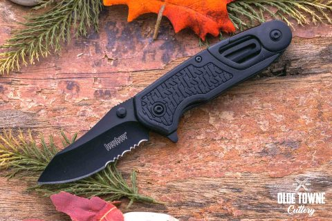 Kershaw 8100 Funxion EMT black blade with Cord Cutter Tool