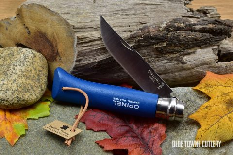 Opinel Trekking No 8 Blue Dyed Wood handle