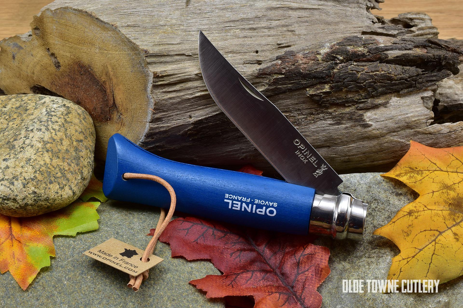 Opinel Trekking No 8 Blue Dyed Wood handle