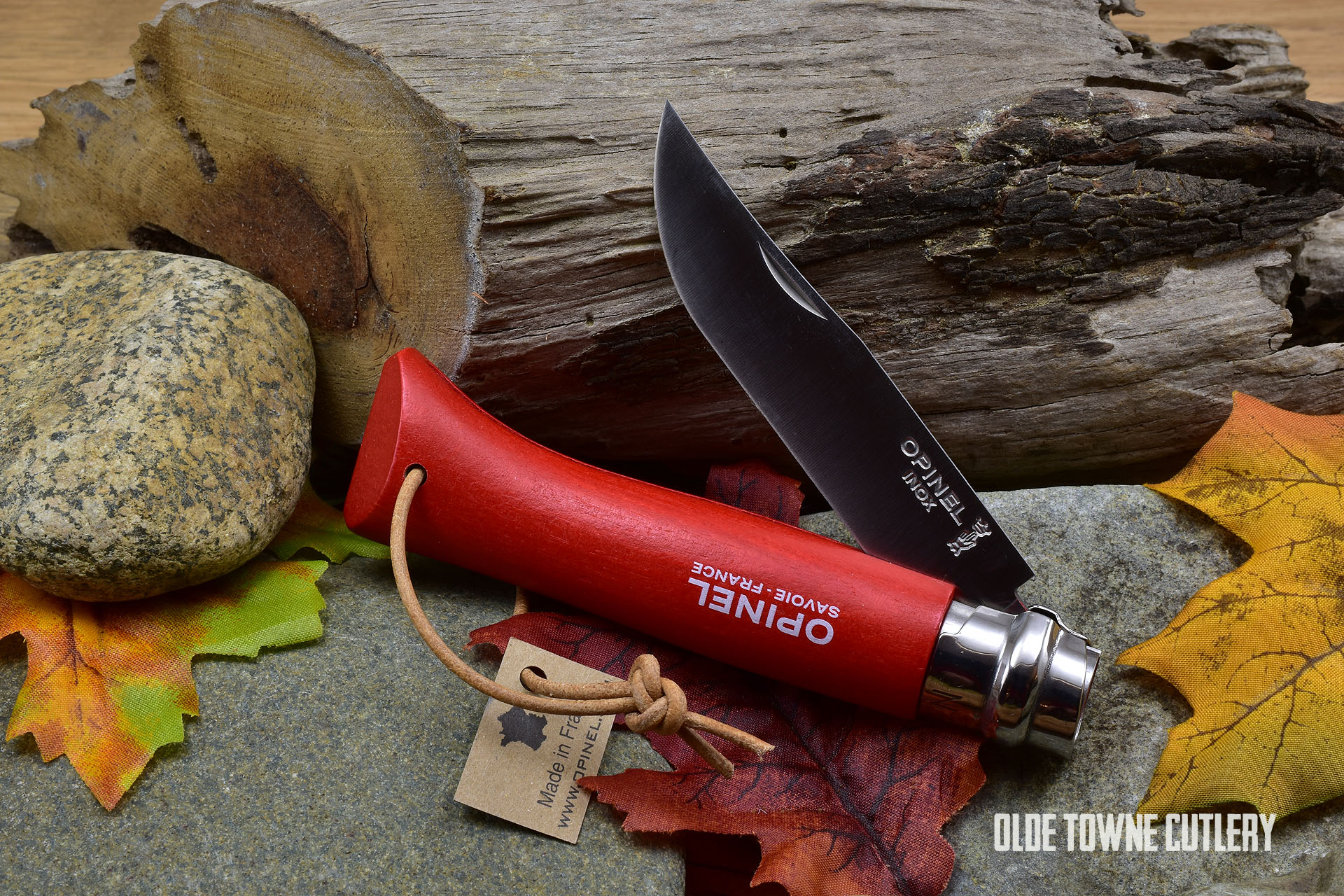Opinel Trekking No 8 Red Dyed Wood handle
