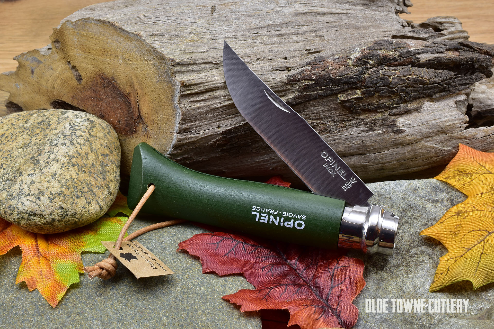 Opinel Trekking No 8 Green Dyed Wood handle