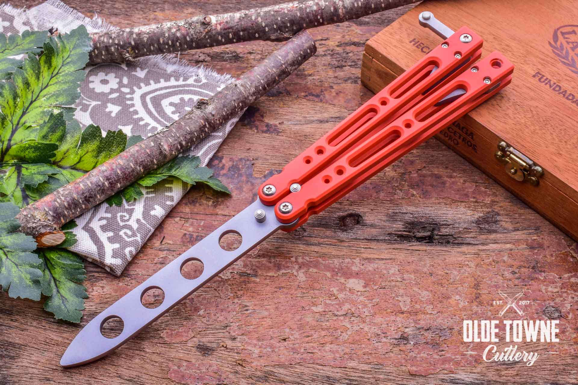 Bear Ops B401AIORP Orange T6 Balisong Trainer