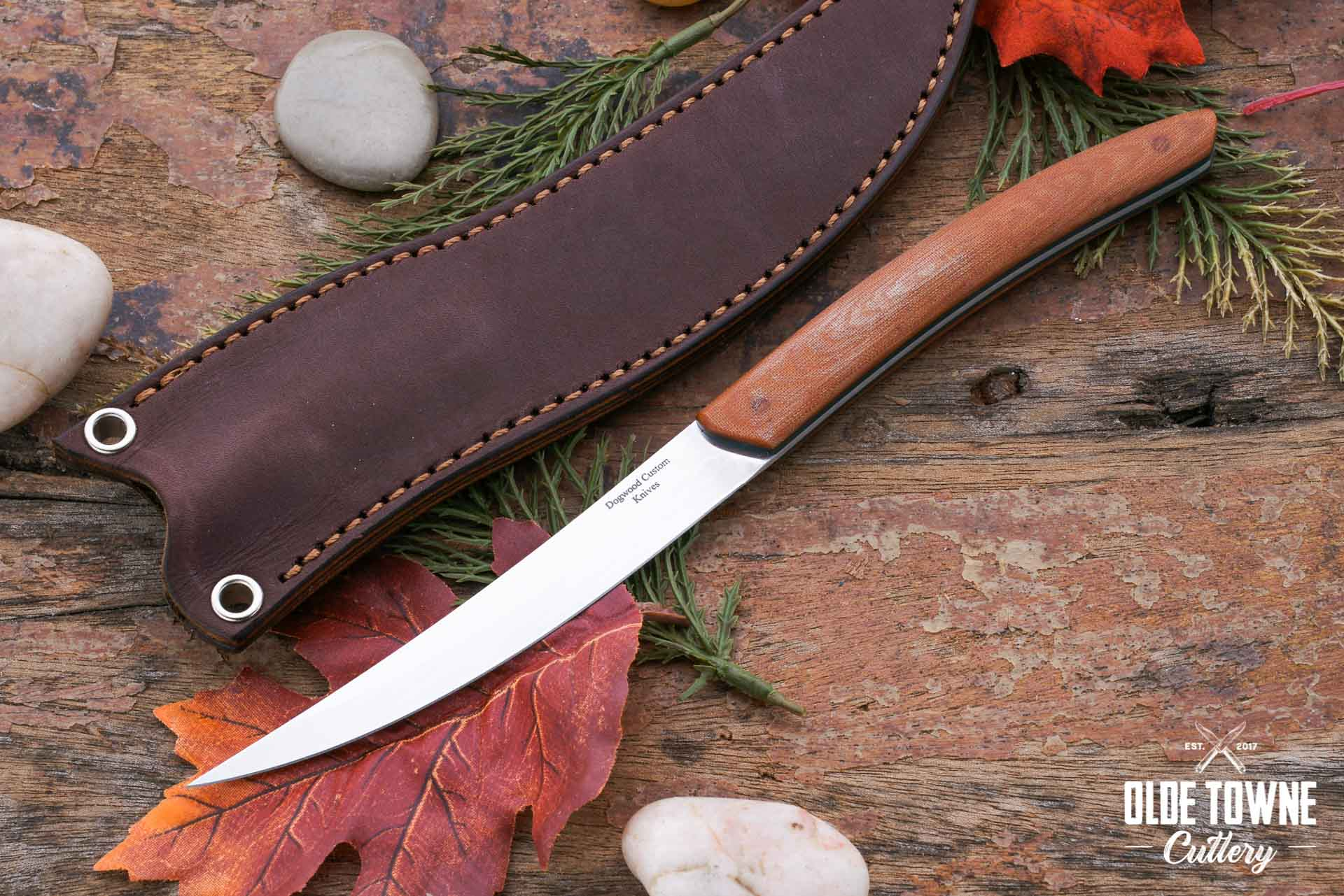 Dogwood Custom Knives Fish & Fowl Nat. Micarta