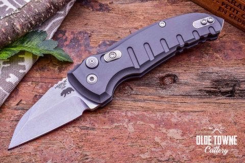Hogue Knives 24142 A01 Microswitch Gray