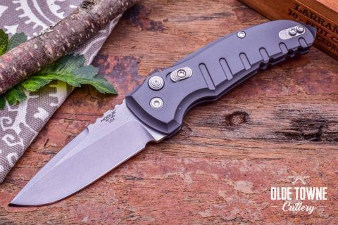 Hogue Knives 24112 A01 Micro Matte Grey Aluminum