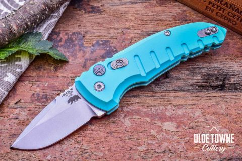 Hogue Knives 24123 A01 Microswitch Aquamarine