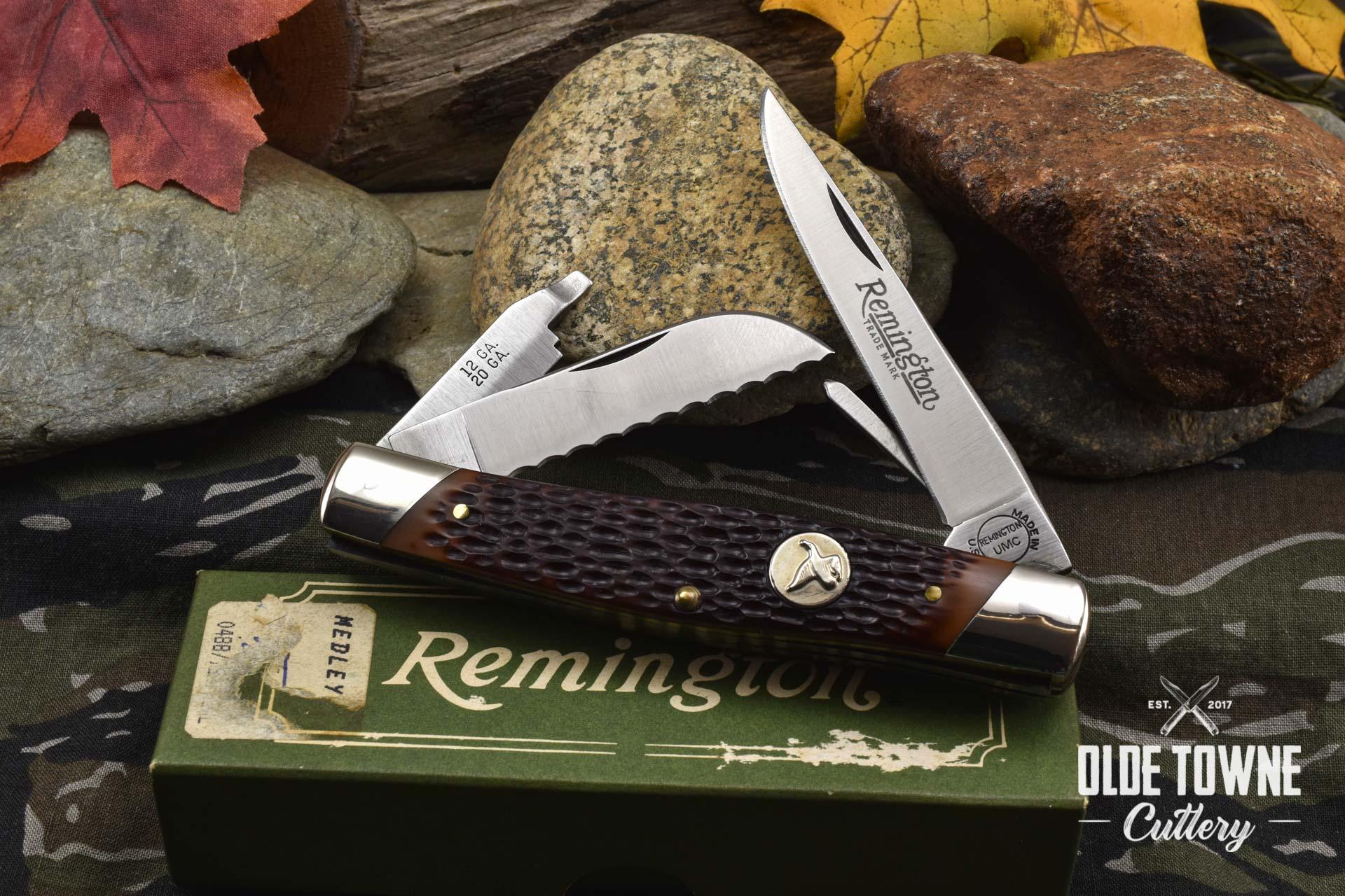 Vintage Remington Bullet Knife Stockman Hunter