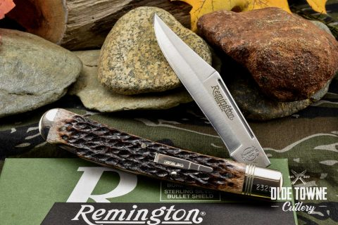 Vintage Remington Bullet Knife 1-blade Trapper Lockback