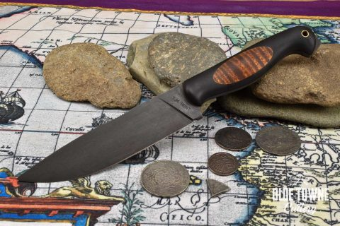 T.M. Hunt Tradewater Black G10/Curly Maple