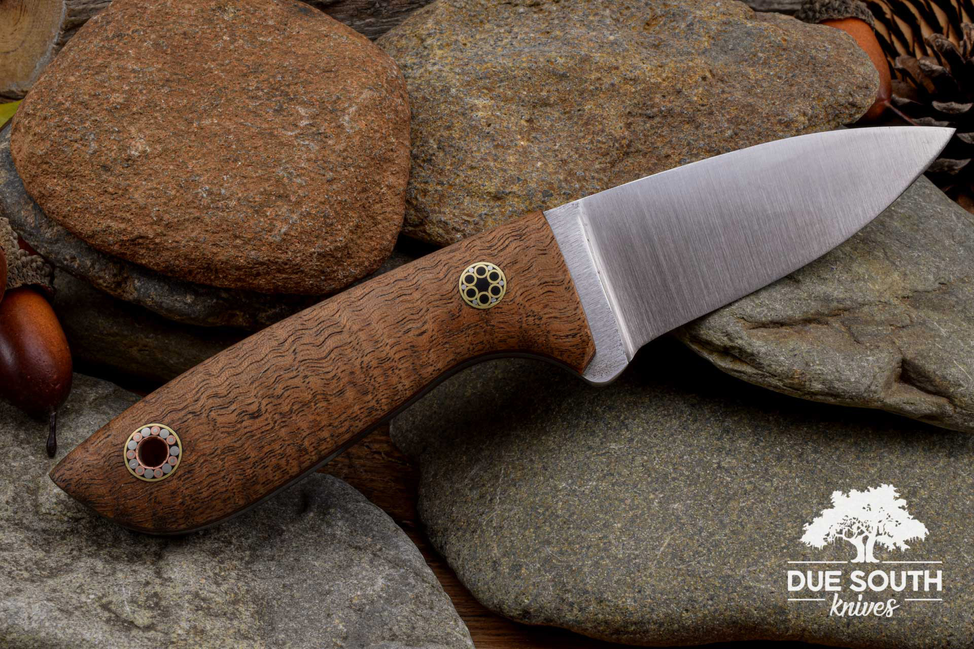 Due South Knives Springer Mtn Hiker Curly Mahogany