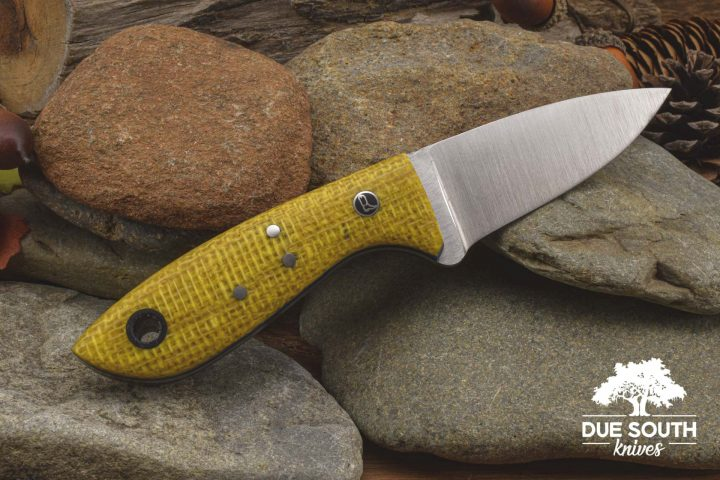 Due South Knives Springer Mtn Hiker Yellow Burlatex