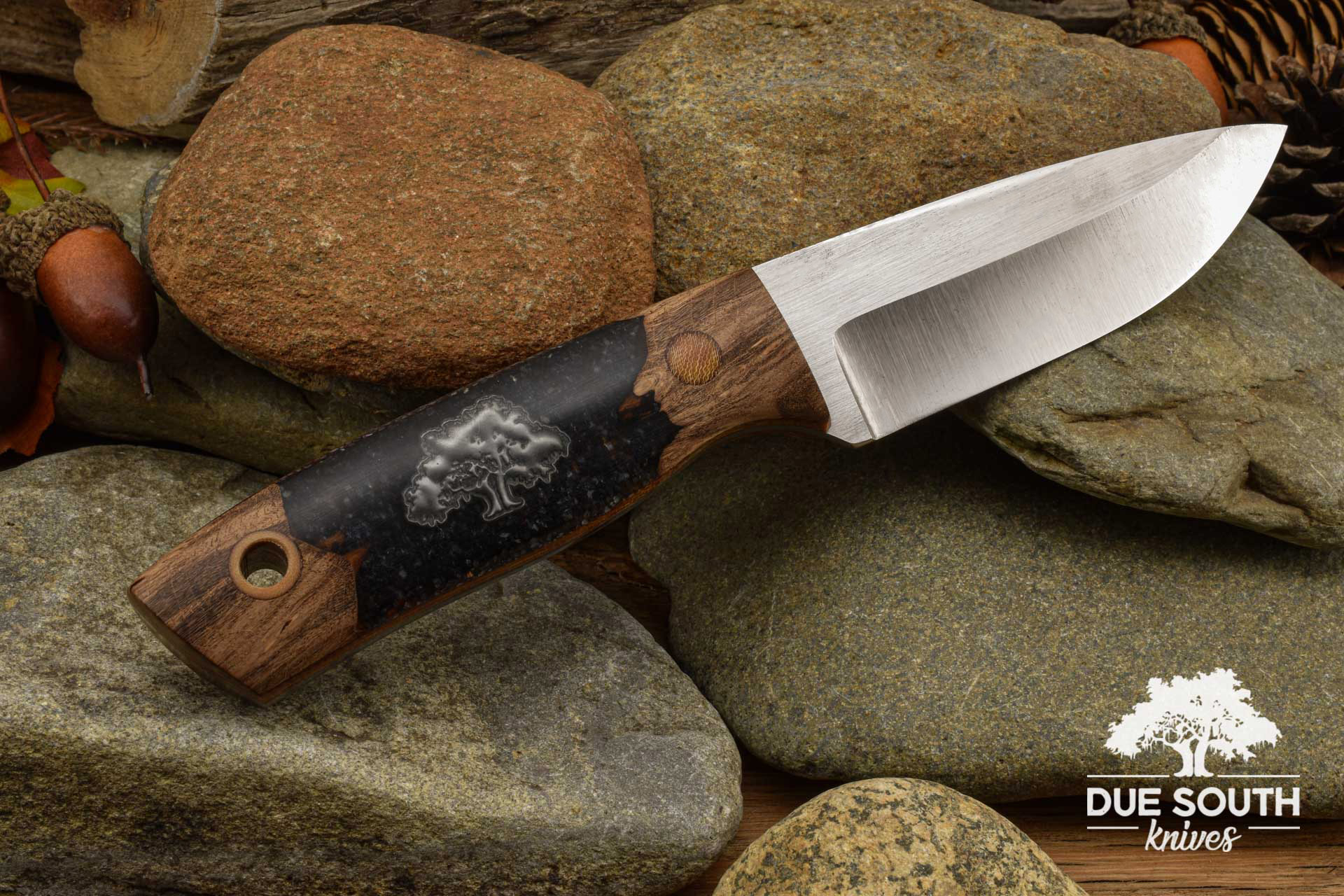 Due South Knives Chickamauga Hunter Burl/Acrylic Hybrid