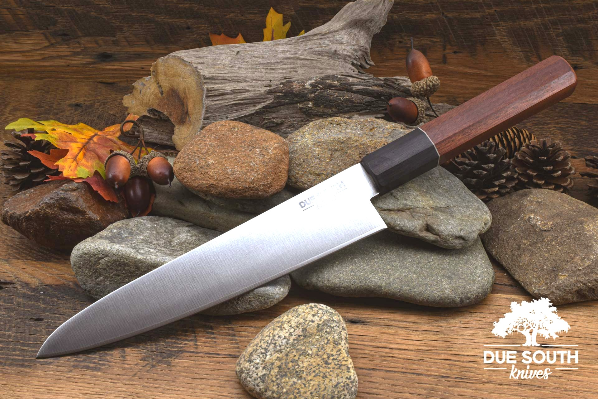 "Due South Knives Akagi Chef 8"" Bloodwood"