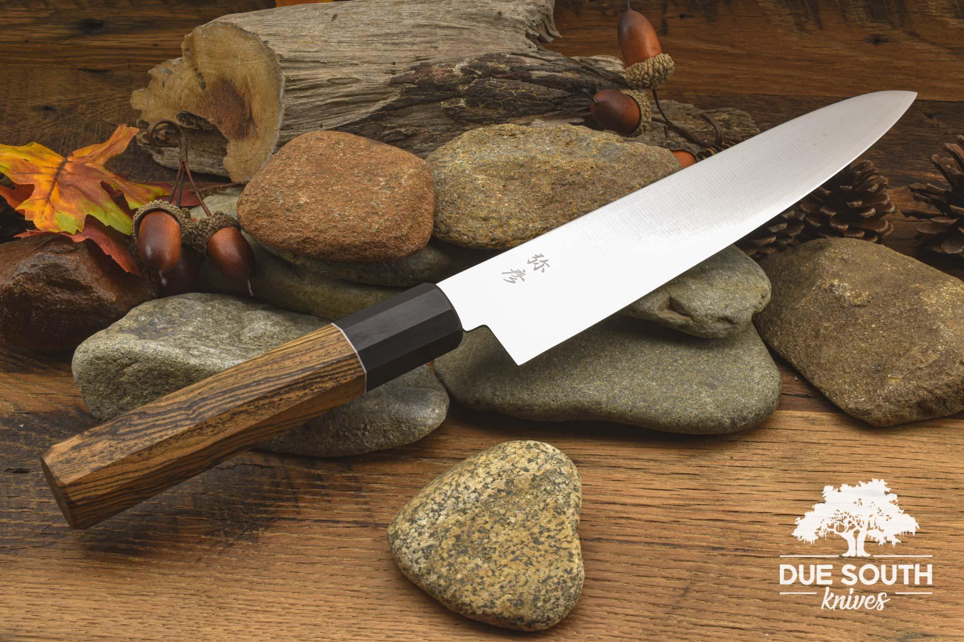 "Due South Knives Akagi Chef 8"" Bocote"