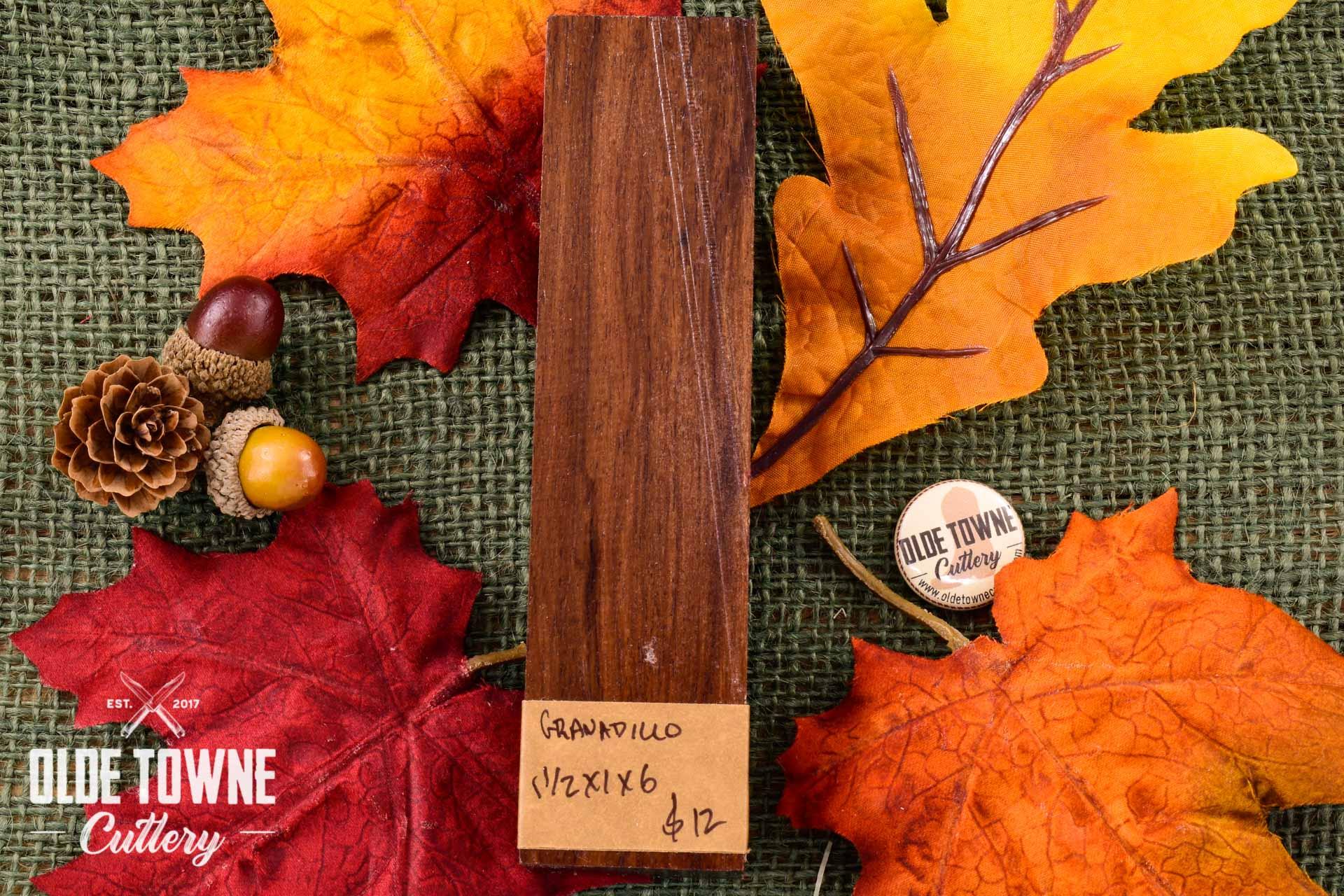 Handle Material Granadillo 1 1/2 x 1 x 6 Block