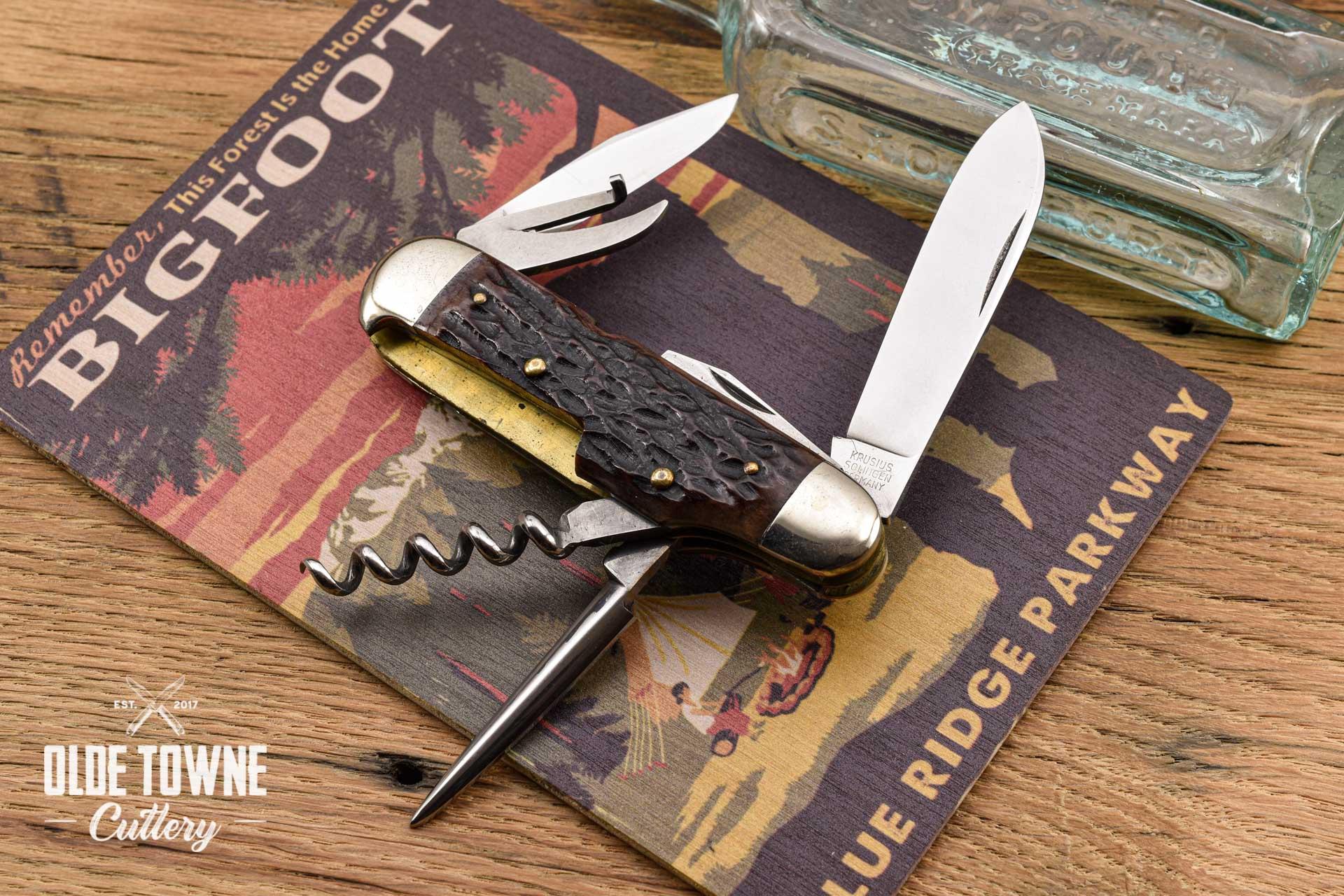 Vintage Krusius Bros Scout/Bartender Knife