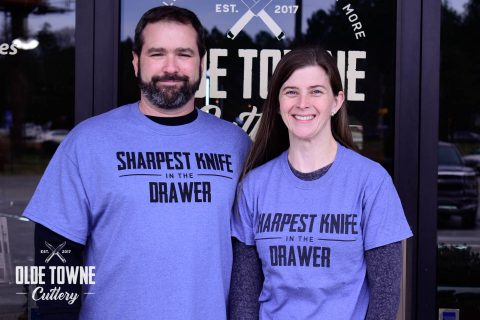Sharpest Knife in the Drawer 4X T-Shirt Blue