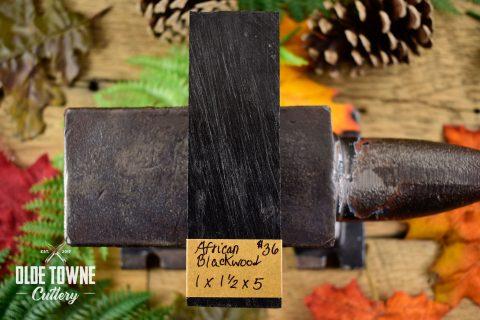 "Handle Material African Blackwood 1"" x 1 1/2"" x 5"""