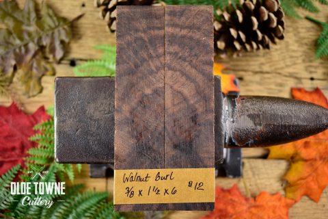 """Handle Material Walnut Burl 3/8"""" x 1 1/2"""" x 6"""""""