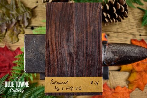 "Handle Material Rosewood 3/8"" x 1 3/4"" x 6"""
