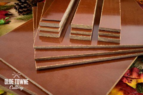 """Micarta Handle Material 1/4"""" x 2"""" x 12"""" Natural Paper"""