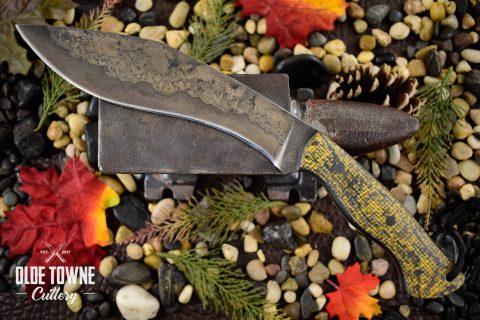 Alfa Knife Carry Kukuri Black/Yellow Burlatex