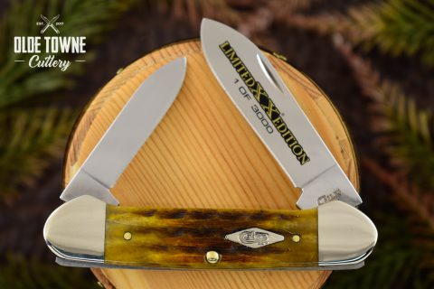 W.R. Case & Sons LE Canoe Honeycomb Bone