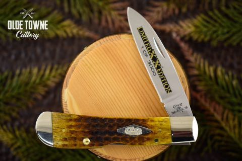 W.R. Case & Sons LE Tribal Lock Honeycomb Bone
