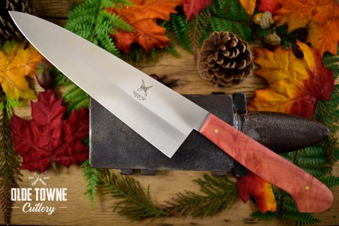 "Due South Knives 8"" Chef Pink Ivory"