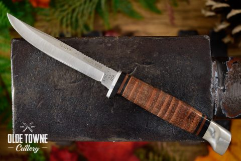 Pre-Owned Case Stacked Leather Fixed Blade (C)