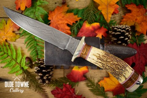 Pre-Owned Mullins Damascus Bowie Stag #50 (C)