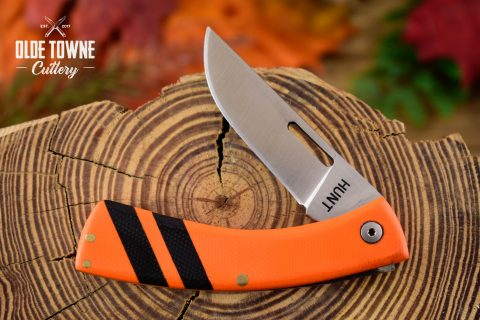 T.M. Hunt Custom Folder .22 Orange/Black