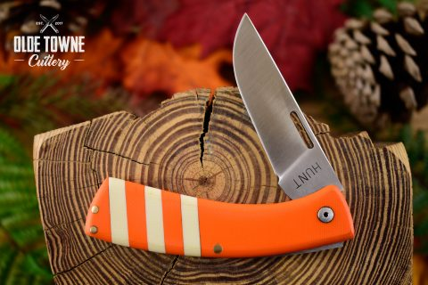 T.M. Hunt Custom Folder .32 Orange/White