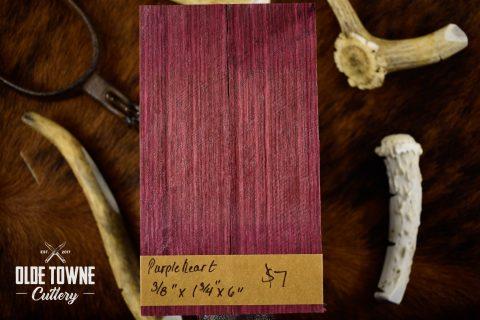 Handle Material Purple Heart 3/8 x 1 3/4 x 6